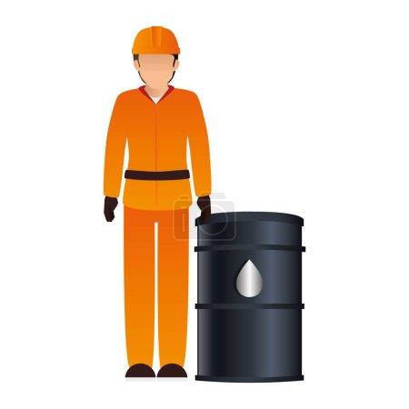 Illustration pour Station service worker icône vecteur illustration conception - image libre de droit