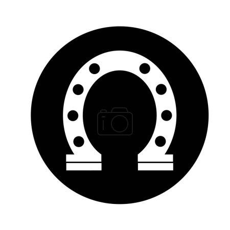 horseshoe luck isolated icon