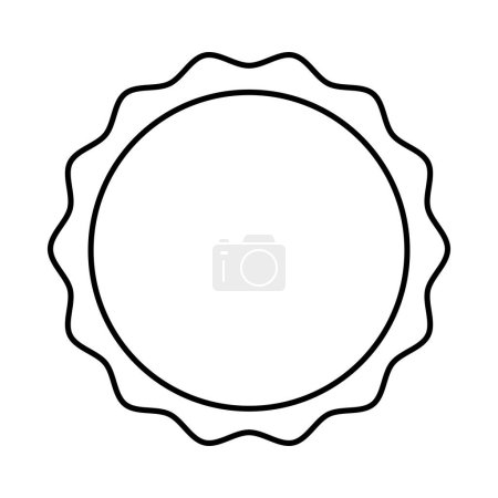 Illustration for Circle seal stamp icon vector illustration design - Royalty Free Image
