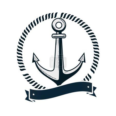 anchor maritime emblem icon