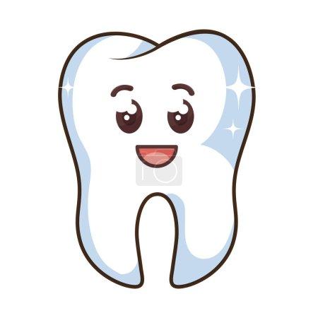 teeth funny character kawaii style