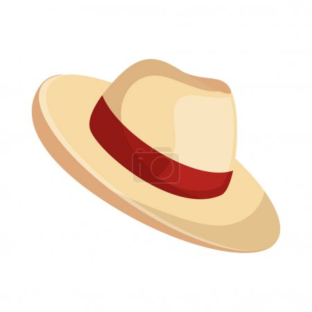 Illustration for Beach hat panama icon vector illustration design - Royalty Free Image