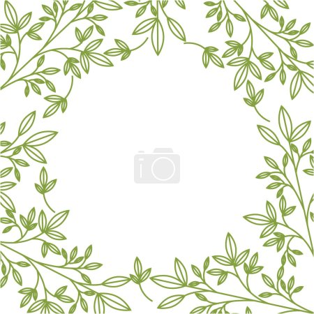 Illustration for Plant and leaves background. colorful design. vector illustration - Royalty Free Image