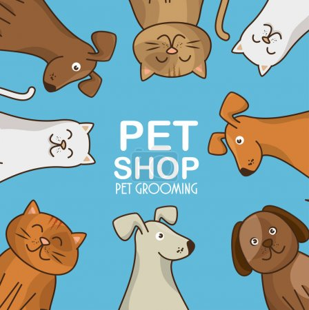 Photo for Group animals pet shop vector illustration design - Royalty Free Image