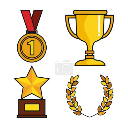 set trophies competition awards