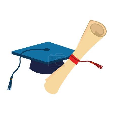 certificate of graduation with graduation cap