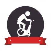 spinning bike gym icon