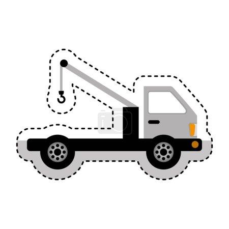 crane service truck icon