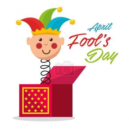 Illustration for April fools day celebration card vector illustration design - Royalty Free Image