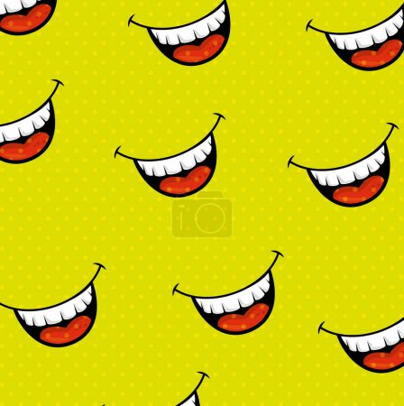 Illustration for Fools mouth pattern background vector illustration design - Royalty Free Image
