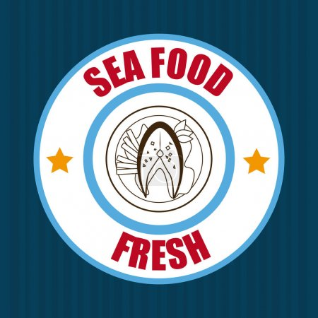 Food design over blue background vector illustration