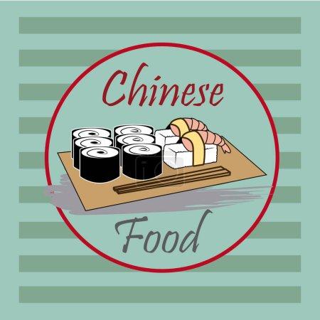 Food design over green background vector illustration