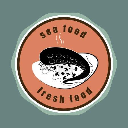 Food design over gray background vector illustration