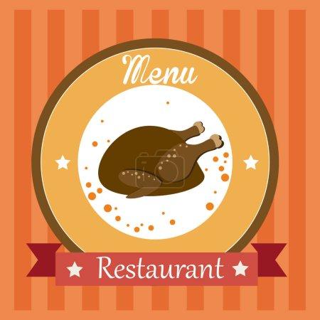 Food design over orange background vector illustration