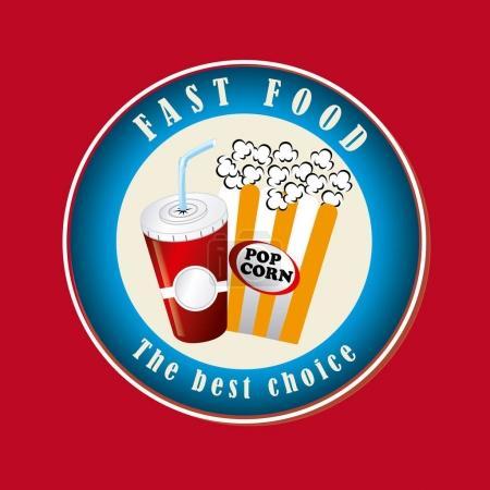Food design over red background vector illustration