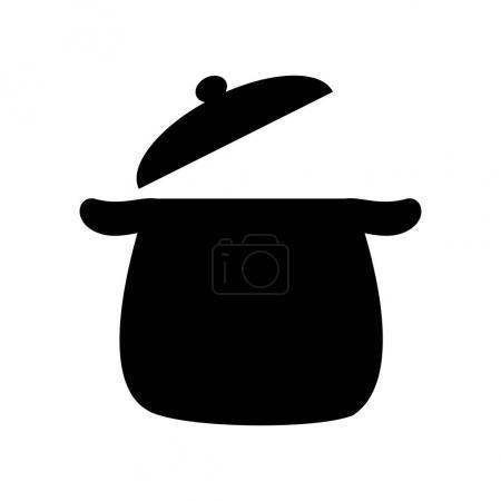 Illustration pour Icône de pot de cuisine sur fond blanc. illustration vectorielle - image libre de droit