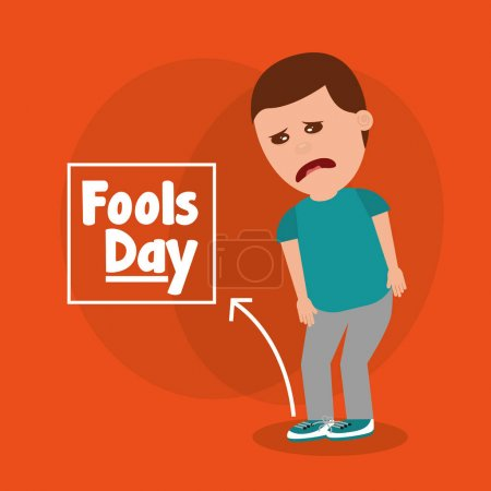sad man for joke of tied sholaces fools day