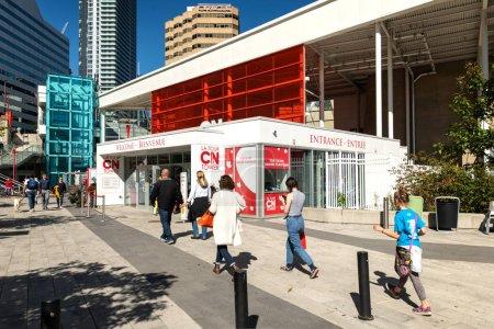 Photo pour October 10, 2018, Toronto, Ontario, Canada : Entrance zone of the famous CN tower in Toronto, Ontario Canada - image libre de droit