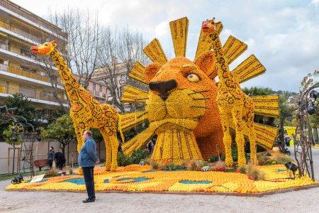 Lemon Festival in Menton, France