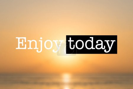 Enjoy today tropical sunset background