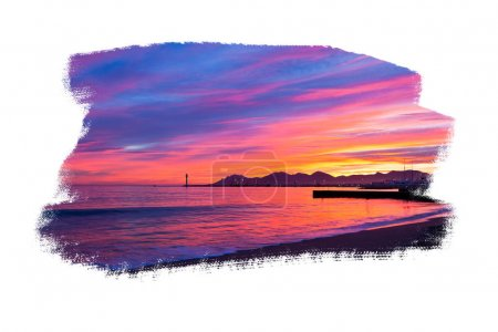 Magic Sunset in Cannes