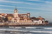 View of Gijon Asturias the Northern Spain