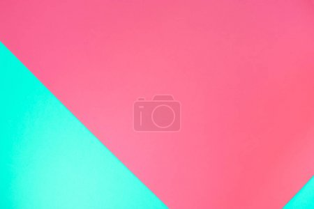 Photo for Green and pink pastel color paper geometric flat lay background texture - Royalty Free Image