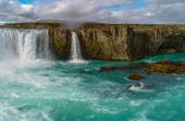 Godafoss , Icelandic waterfall. located on the North of the isla