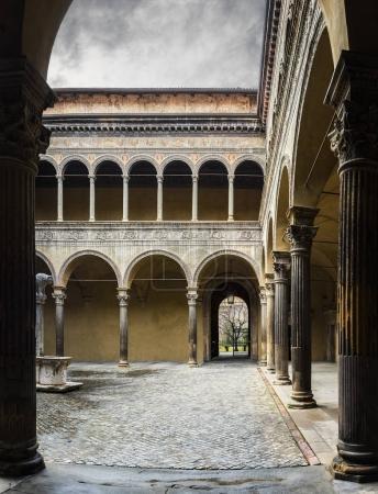 Photo for Hidden courtyard. Bologna, Italy. - Royalty Free Image