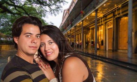 Happy Hispanic Couple Enjoying an Evening in New Orleans, Louisiana