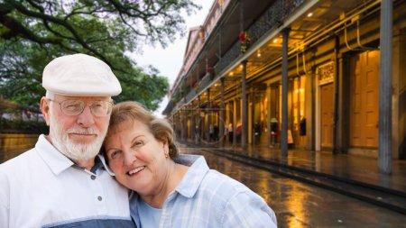 Happy Senior Adult Couple Enjoying an Evening in New Orleans, Louisiana