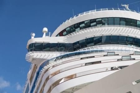 Cruise Ship Decks Abstract Against Blue Sky