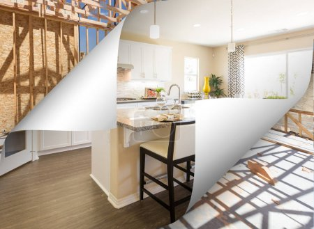 Custom Kitchen with Page Corner Flipping to Construction Framing