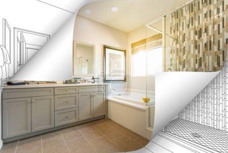 Photo pour Coins de Page maître de bains Photo renversant avec dessin derrière. - image libre de droit