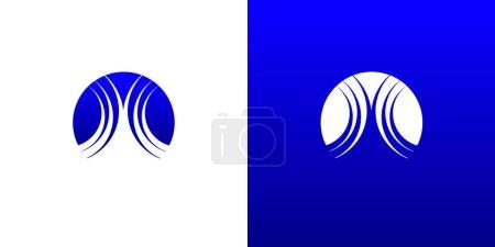 Illustration pour Modèle de symbole de logo d'eau de vague - image libre de droit