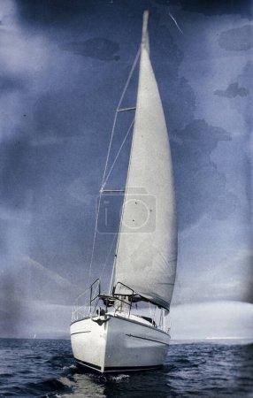 Photo pour Image de style vintage d'un voilier - image libre de droit
