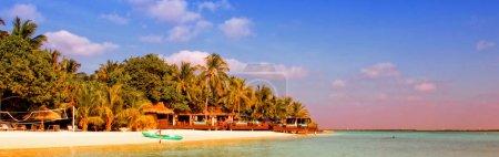 Photo for Beautiful tropical paradise island, the Maldives - Royalty Free Image