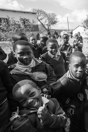 Photo for Unidentified Swazi children on July 29, 2008 in the Nazarene Mission School in Piggs Peak, Swaziland. - Royalty Free Image