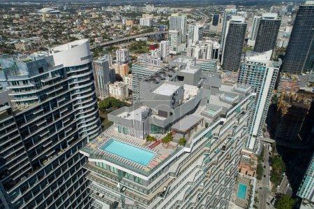 Rooftop pool deck SLS Brickell