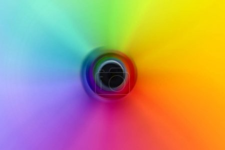 Abstract Blurred Rainbow Color Wheel