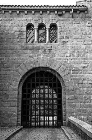 Black and White Castle Gate