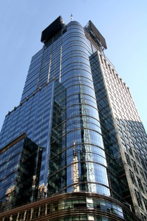 New York City Glass Tower Building