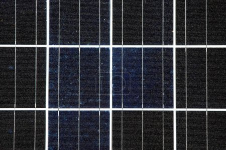 Foto de Primer plano de un Panel Solar Fotovoltaico - Imagen libre de derechos