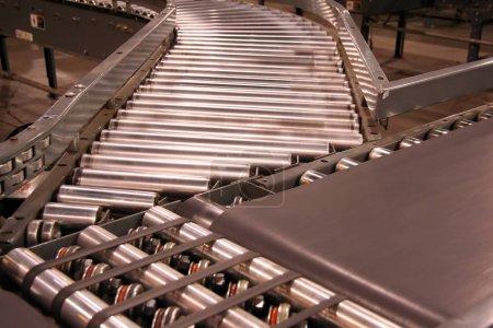 Conveyor Belt for Shipping close up shot