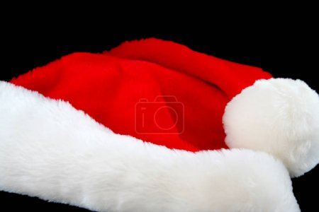 Christmas Santa Hat Isolated on a Black Background