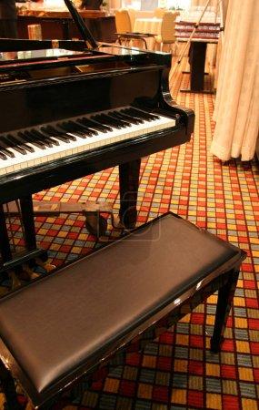 Grand Piano and Seat close up shot