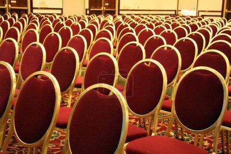 Photo pour Sièges ouverts lors d'un événement de Concert Auditorium - image libre de droit