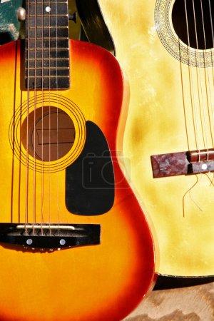 Country Guitars close up shot