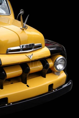 Yellow Classic Ford Pickup Truck in Mint Condition - Editorial Use