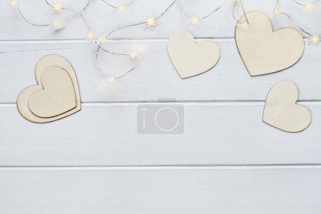 Valentinstag Herzen mit Lichterketten
